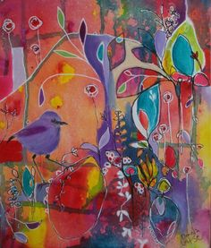 Donna Munro Art is all about helping people find their artistic flare, and showcasing Donna's art. Art Journal Inspiration, Painting Inspiration, Flora Bowley, Expressive Art, Plant Art, Arte Floral, Whimsical Art, Online Art Gallery, Flower Art