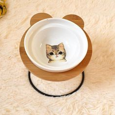 New High-end Pet Bowl Bamboo Shelf Ceramic Feeding and Drinking Bowls for Dogs and Cats Pet Feeder Accessories Food Jar, Food Bowl, Bamboo Shelf, Pet Bowls, Pet Feeder, Halloween Sale, Dog Feeding, Design Your Home, Ceramic Bowls