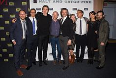 Halt and Catch Fire - Scoot McNairy, Lee Pace and Toby Huss attend AMC Upfront Event at Basketball City Pier on March 2014, New York City