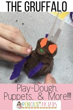 Toddlers, Preschool, kindergarten, and first grade students love The Gruffalo. I'm sharing lots of activities, printables, Gruffalo play dough recipe, & more that pair perfectly with this fantastic book! #gruffalo #readaloud #kindergarten #firstgrade #preschool
