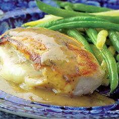 Chicken Stuffed with Golden Onions and Fontina | JuJu Good News