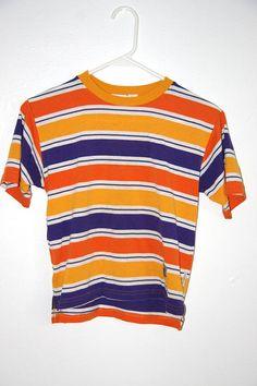 90's BE YOUR OWN boy orange / purple / white striped