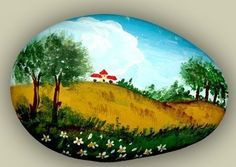 Decorate the stones - painted stone