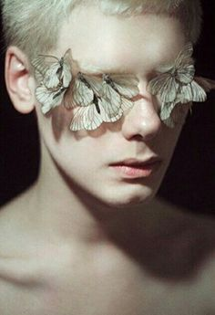 butterflies, high end beauty, editorial