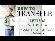 How to Transfer Letters onto Wood ~ DIY Letter Transfer ~ Sign Tutorial Carbon Paper Transfer, Wood Transfer, Photo Transfer, Wax Paper Transfers, Image Transfers, Letter Stencils, Stencil Wood, Stenciling, Words On Wood