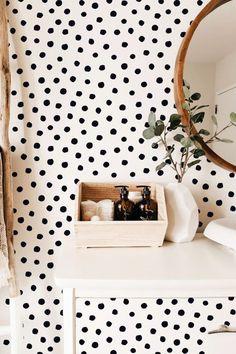 38 Ideas For Polka Dot Wall Decals Ideas Polka Dot Walls, Polka Dot Wall Decals, Polka Dot Room, Polka Dot Nursery, Polka Dots, Modern Wall Decals, Vinyl Wall Decals, Wall Stickers, Removable Wall Decals