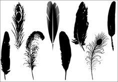 Feather Vector clip art pack | Silhouette Clip ArtSilhouette Clip Art
