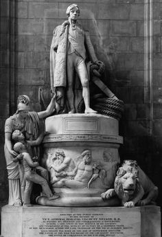 John Flaxman, Monument to Vice-Admiral Horatio Nelson, 1808-18,  Marble  St., Paul's Cathedral, London