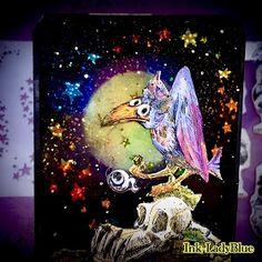 Halloween Paper Crafts, Halloween Items, Halloween Cards, Tim Holtz, Crafty, Stamps, Christmas, Painting, Birthday Wishlist
