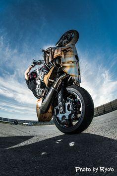 #MotorcycleStunt,#ZX-6R,#Kawasaki,#Wheelie @Sapporo,Japan