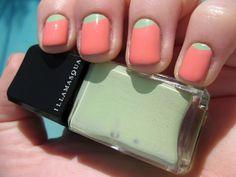 Half Moon Manicure | Pastel #nails