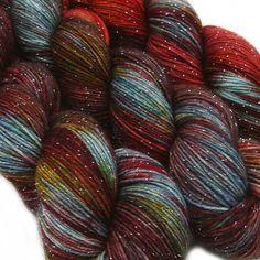 2 skeins, please! : ) DESTINATIONS glitter sock yarn BERLIN 70/25/5 by lanitiumexmachina, $22.00
