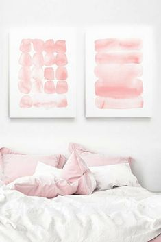 Printable wall art | abstract pink watercolor art | geometric designs | shabby chic decor | minimalist art | Easy dorm room poster | Instant download, print and frame at home | #affiliate