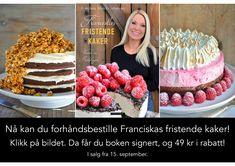 Her kan du bestille Franciskas fristende kaker Cereal, Birthday Cake, Breakfast, Desserts, Morning Coffee, Tailgate Desserts, Deserts, Birthday Cakes, Postres