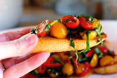 Pioneer Woman's Bruschetta - ok maybe THIS is my favorite appetizer of all time!!  Go to We Olive (the store) and try new combos of vinegar/oil.  We had great success with a blackberry balsamic!