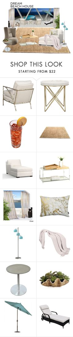 """Sunset Beach"" by boutiquebrowser ❤ liked on Polyvore featuring interior, interiors, interior design, home, home decor, interior decorating, Barbara Barry, Pottery Barn, B&B Italia and Convenience Concepts"