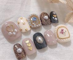 Pin by Liza on pastell in 2020 Cute Nail Art, Beautiful Nail Art, Japan Nail Art, Hello Nails, Sun Nails, Impress Nails, Korean Nail Art, Organic Nails, Kawaii Nails