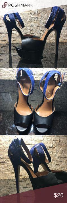 REDUCED Aldo Heels Black and blue platform heels Aldo Shoes Heels