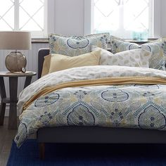 Shalimar Organic Percale Reversible Duvet Cover | The Company Store