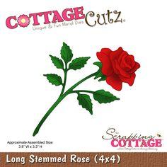 CottageCutz Long Stemmed Rose (4x4)