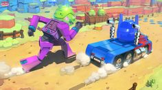 Pre-production art for Angry Birds Transformers mobile game.