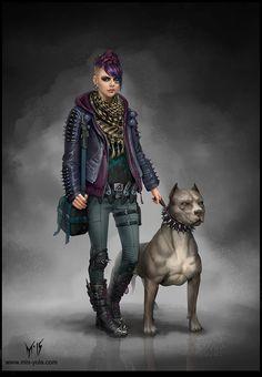 """Character Concept Art /Niki/"" by mis-Yula (Yulia Misyul) Character Concept, Character Art, Concept Art, Gangsters, Post Apocalypse, Cthulhu, Moira Burton, Aztecas Art, Shadowrun Rpg"
