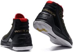 7dc0094c97dd Under Armour UA Curry 3 Couple Basketball Shoes Black red and gold Cheap  Nike Air Max