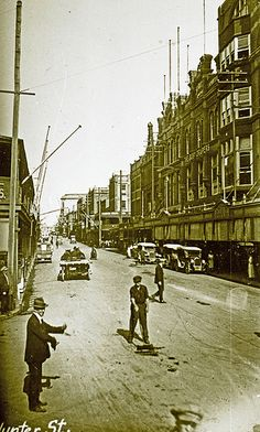 Hunter Street, Newcastle, NSW, [1920s]   by UON Library,University of Newcastle, Australia Newcastle Town, Hunter Street, Australian Road Trip, Library University, Tourist Info, Dark Stories, Australia Day, Old Maps, Street View