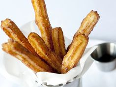 Valentine's Day Recipes: Churros with warm chocolate sauce