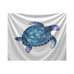 E by Design Sea Turtle Animal Print Tapestry