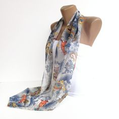 paisley scarf,  infinity scarf , summer accessory for her, scarf trend, chic & stylish , trendscarf for her via Etsy