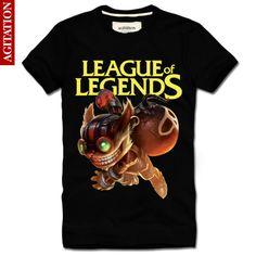 Cool Designs League OF Legends T Shirt LOL ziggs New Style2 Black