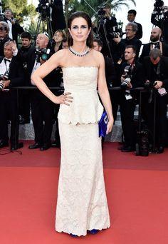 Livia Firth vestiu Stella McCartney no Festival de Cannes 2016.