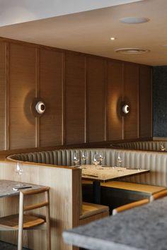 restaurant lighting Viet Next Door: Vietnamese Tapas Bar in Adelaide by Genesin Studio Restaurant Design, Architecture Restaurant, Restaurant Seating, Luxury Restaurant, Restaurant Lighting, Cafe Restaurant, Restaurant Banquette, Modern Restaurant, Banquet Seating