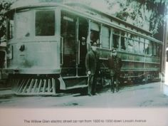 The Willow Glen electric street car ran from 1920 to 1930 down Lincoln Ave.