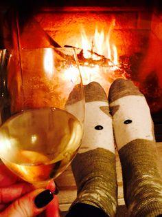 White Ice wine and crazy socks