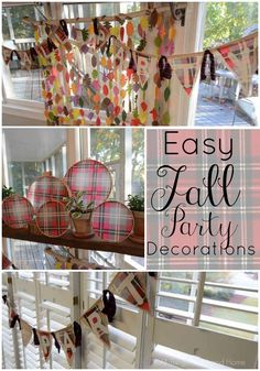 Easy Ideas for a Fall Party
