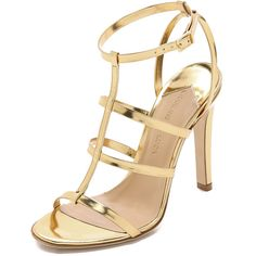 Charline De Luca Beat Metallic Sandals ($175) ❤ liked on Polyvore