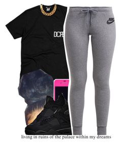 """GoodMorning."" by trinityannetrinity ❤ liked on Polyvore featuring Freaker and NIKE"