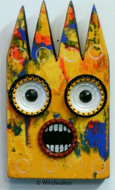 Hey, I found this really awesome Etsy listing at https://www.etsy.com/listing/220517472/scared2-squared-barney-outsider-folk-art