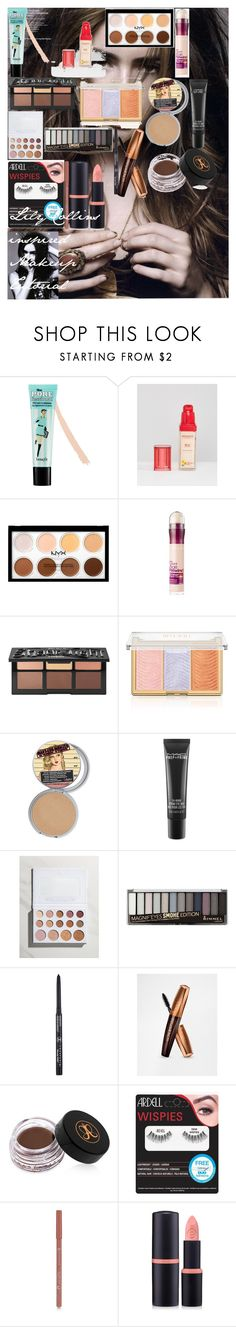 """""""Lily Collins inspired Makeup Tutorial"""" by oroartyellie on Polyvore featuring beauty, Benefit, Bourjois, Maybelline, Kat Von D, MAC Cosmetics, BHCosmetics, Rimmel, Anastasia Beverly Hills and Forever 21"""