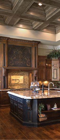 Fantastic Old World kitchen | Habersham Home ᘡղbᘠ                                                                                                                                                      More
