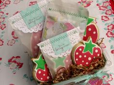 great idea! Making strawberry cookies using Heart and Star cutters :)