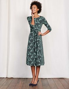 We think you'll agree that this figure-hugging dress is a real head-turner. The tight-fitting bodice is comfortable (thank you, stretch fabric) and the hotchpotch patterns not only contrast beautifully, but they're also really rather slimming. Wrap the ties once for a relaxed silhouette, or twice for an hourglass figure.