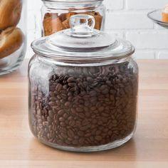 Choice Gallon Glass Jar with Lid Glass Storage Jars, Glass Containers, Jar Storage, Pantry Storage, Kitchen Storage, Coffee Bar Station, Coffee Station Kitchen, Coffee Stations, Gallon Glass Jars