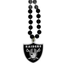 Raiders Mardi Gras Bead Necklace Lot Of 10 #267655