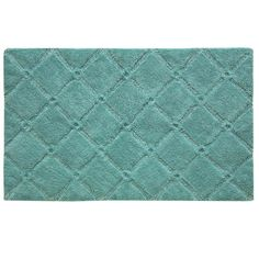 Refresh you master bath or guest suite with this non-skid cotton bath rug, showcasing a subtle diamond motif for stylish appeal. Pro...