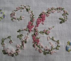 Hand Embroidery Monogram Letter H