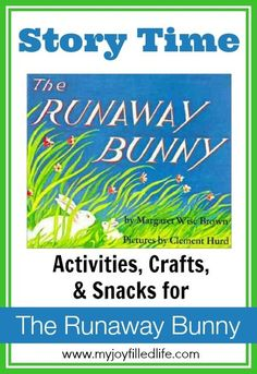 The Runaway Bunny Story Time ~ Lots of wonderful links at My Joy Filled Life! The Runaway Bunny Story Time ~ Lots of wonderful links at My Joy Filled Life! Time Activities, Preschool Activities, Preschool Curriculum, Homeschooling, Bunny Book, Margaret Wise Brown, Five In A Row, Best Children Books, Preschool Lesson Plans