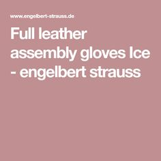 Full leather assembly gloves Ice - engelbert strauss